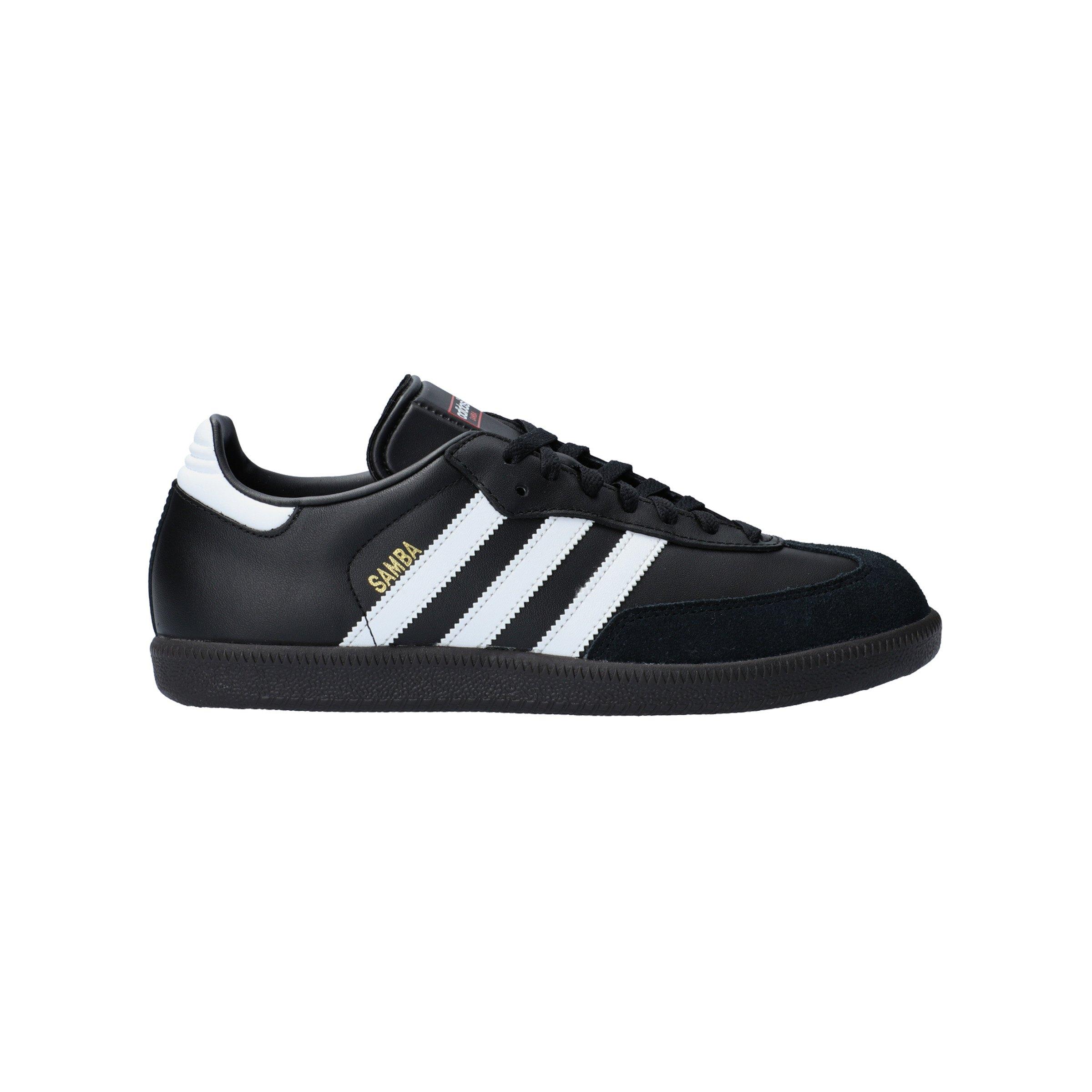 adidas Samba Hallenschuh Leder Schwarz Weiss | - schwarz
