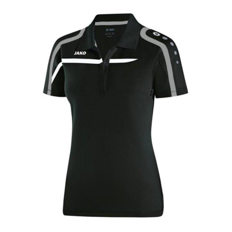 Jako Polo Performance Damen rot//weiß//schwarz Poloshirt Shirt T-Shirt Sport