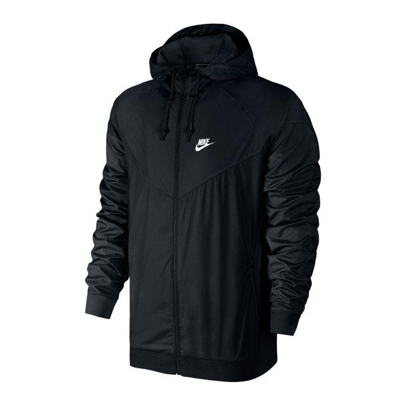 Nike Windrunner Kapuzenjacke Schwarz Weiss F010 | Lifestyle ...