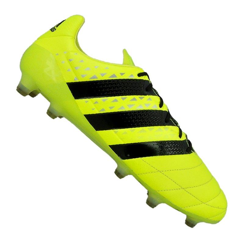2720f824cbba6a adidas Fußballschuhe ACE 16.1 FG Leder Gelb Schwarz
