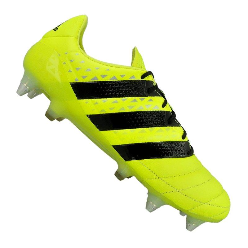 e8dbae98e4255b adidas Fußballschuhe ACE 16.1 SG Leder Gelb Schwarz