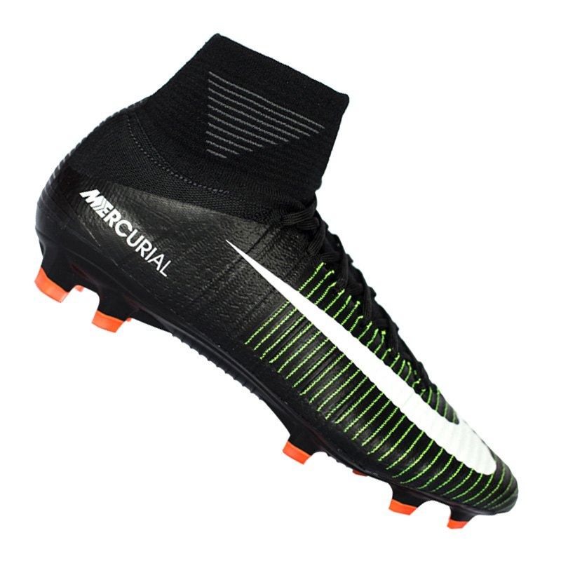 buy popular e3cdb 45d35 Nike Fußballschuhe Mercurial Superfly V FG Kinder  schwarz weiß - schwarz