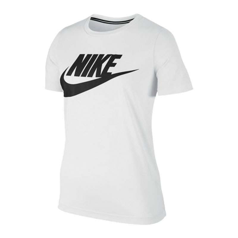 nike essential tee t shirt damen weiss f100 lifestyle. Black Bedroom Furniture Sets. Home Design Ideas