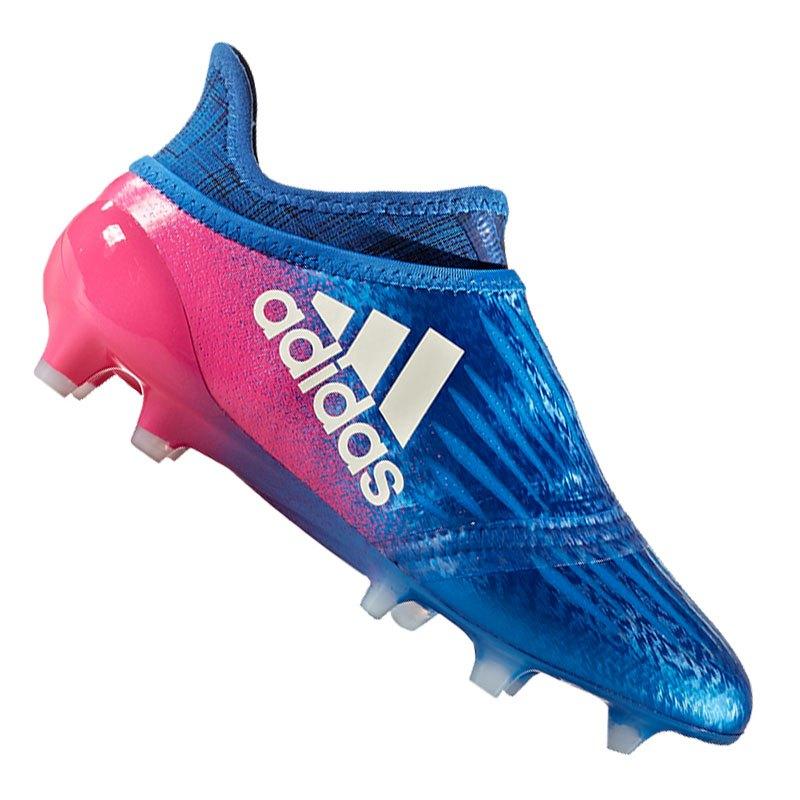 X 16+ PURECHAOS FG - Fußballschuh Nocken - blue / footwear white / shock pink PE6Km2lQW