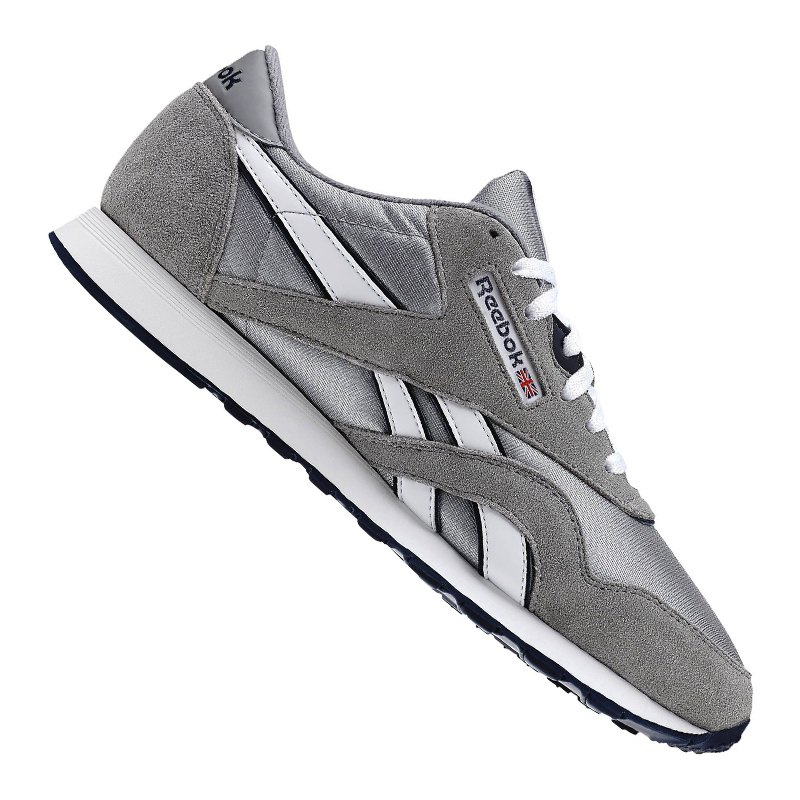 online store 25b83 260fa Reebok Classic Leather Nylon Sneaker Grau Weiss