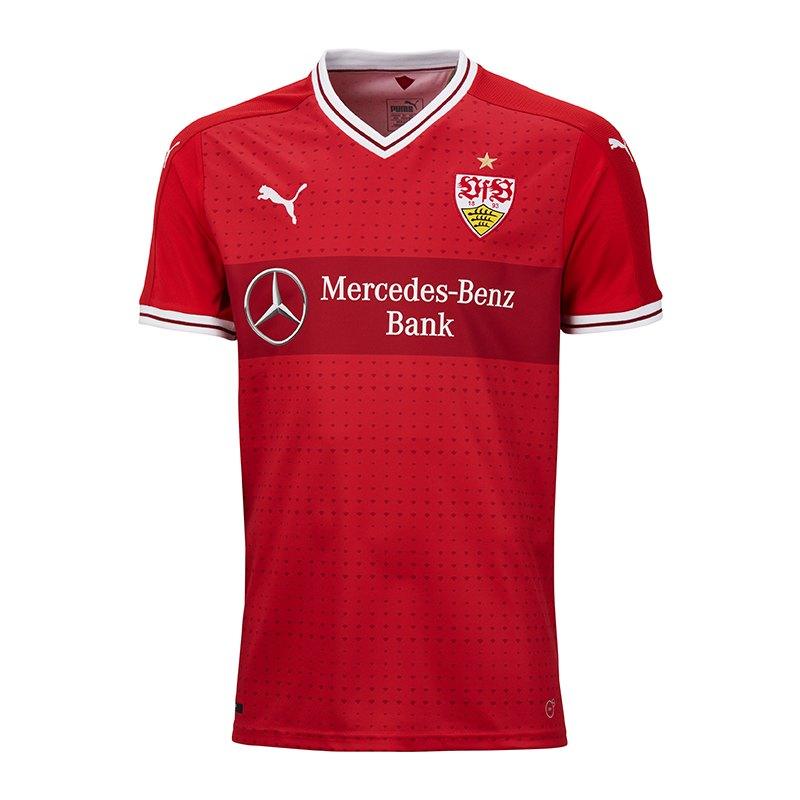 innovative design 3adad 7c36c Puma VfB Stuttgart Trikot Away 17/18 Rot F02