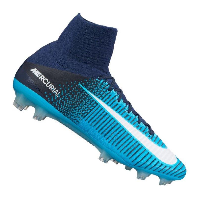 Nike Mercurial Superfly V FG Blau F414 | - blau