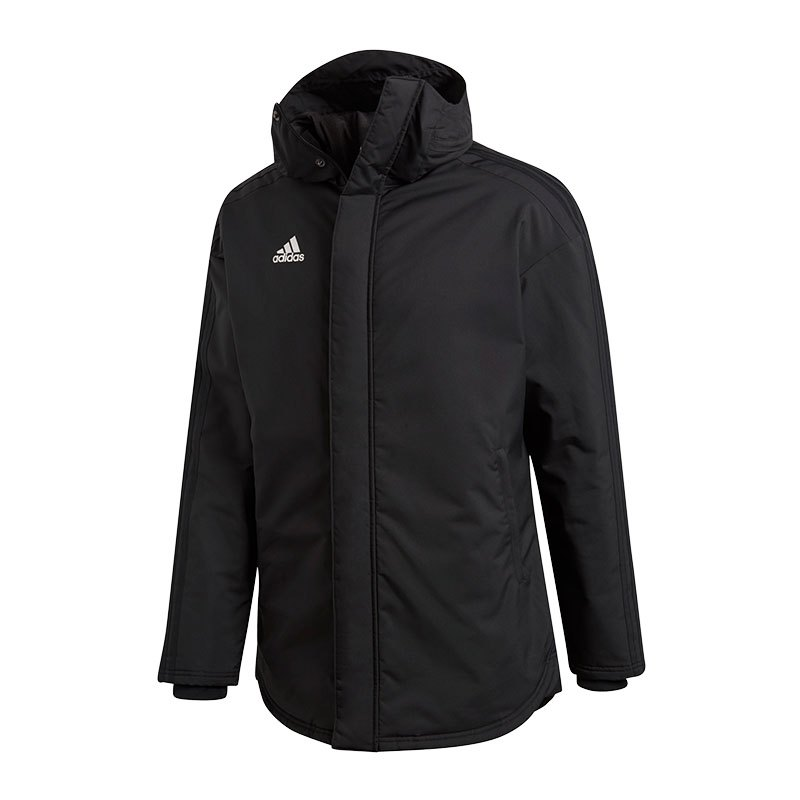 adidas stadium parka 18 jacke schwarz. Black Bedroom Furniture Sets. Home Design Ideas