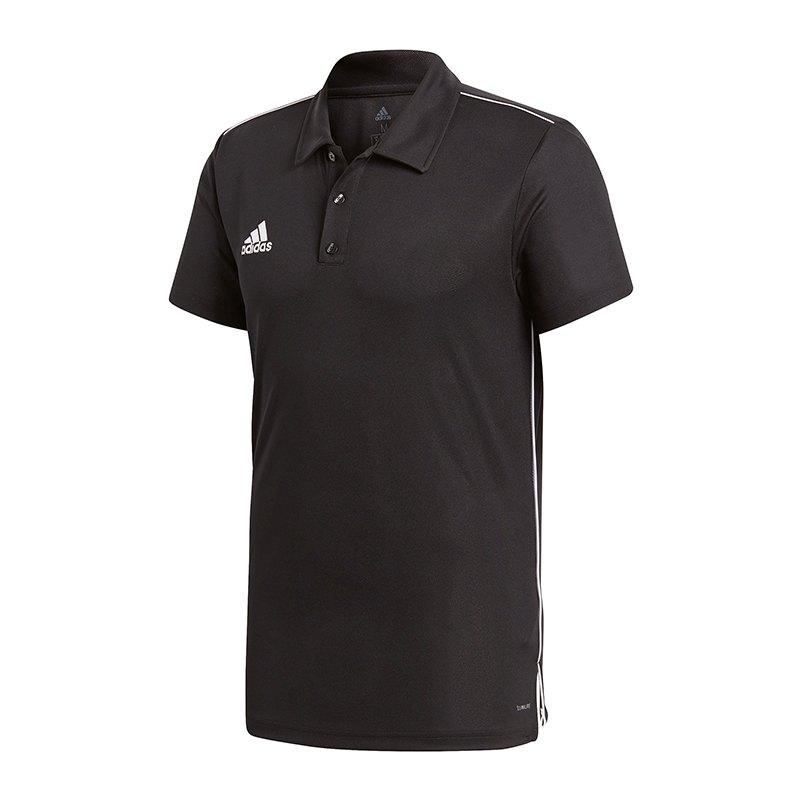 65ebeae9b4bb adidas Core 18 ClimaLite Poloshirt   schwarz weiss   Teamsport ...