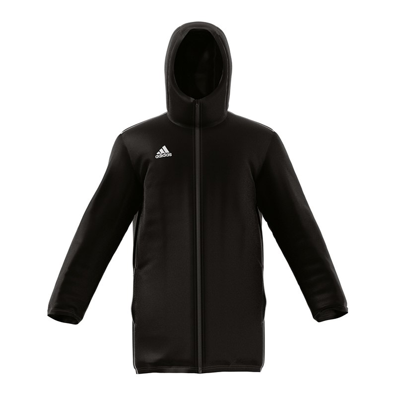 adidas core 18 stadium jacket jacke schwarz weiss. Black Bedroom Furniture Sets. Home Design Ideas