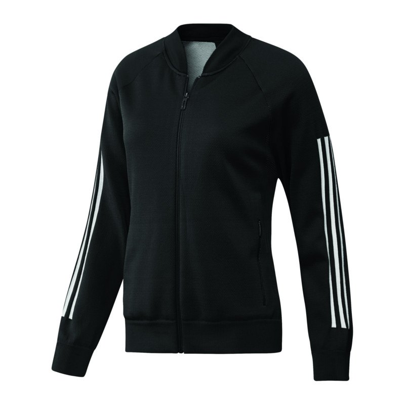 adidas ID Knit Bomber Jacke Damen Schwarz | Freizeit ...