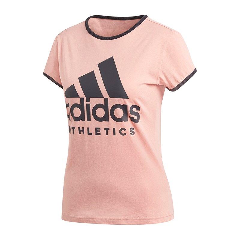 adidas sport id slim tee t shirt damen pink shortsleeve. Black Bedroom Furniture Sets. Home Design Ideas