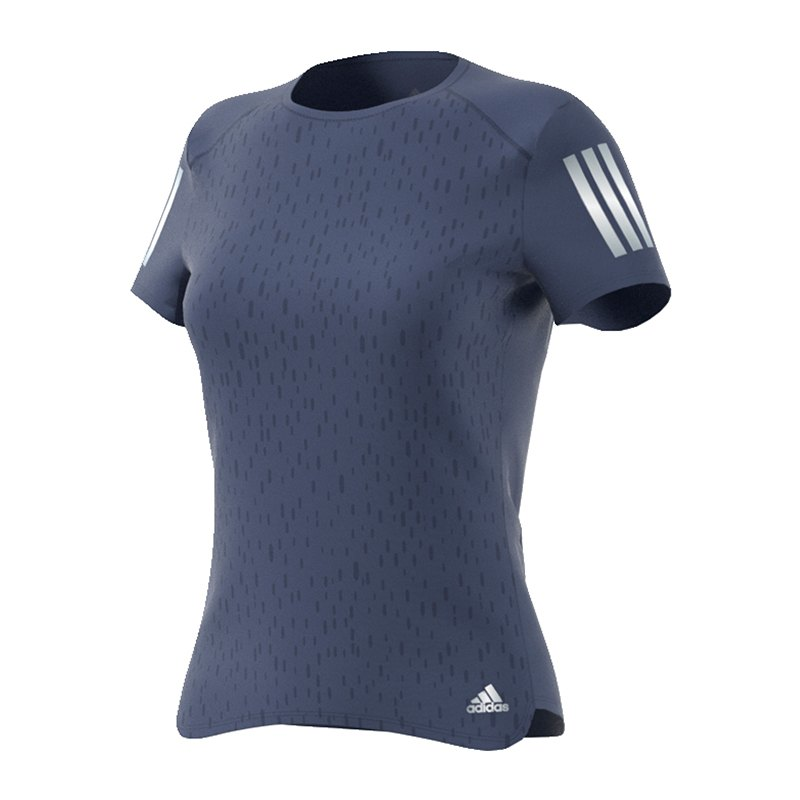 adidas response tee t shirt running damen blau laufshirt. Black Bedroom Furniture Sets. Home Design Ideas