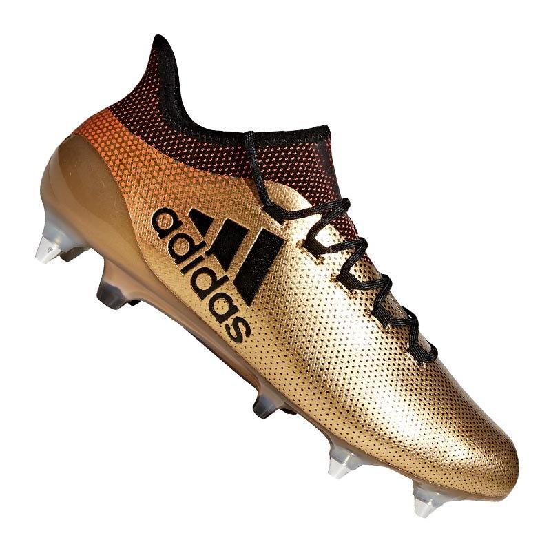 free shipping e512e 82c8e adidas X 17.1 SG Gold Schwarz