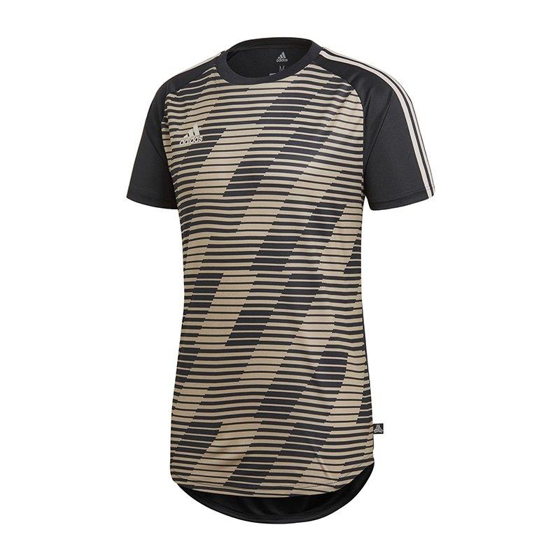 adidas Tango Graphic Jersey Trikot Schwarz Gold | - schwarz