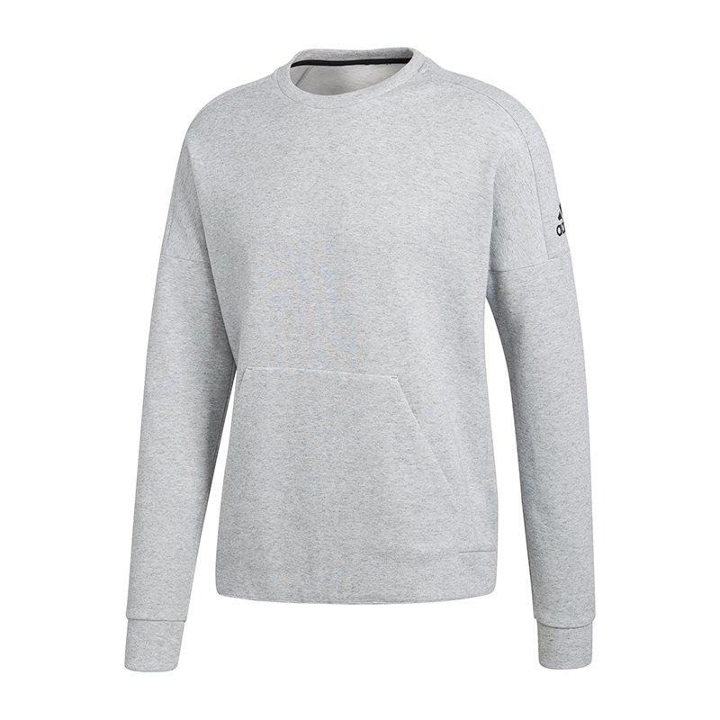 adidas id stadium crew sweatshirt grau lifestyle bekleidung strasse. Black Bedroom Furniture Sets. Home Design Ideas