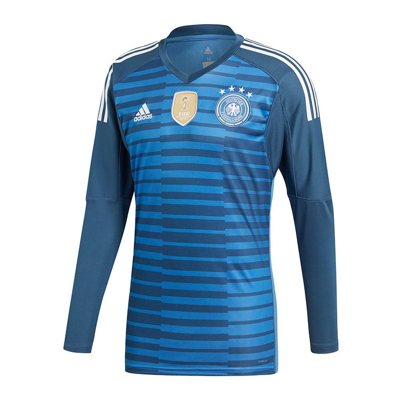 adidas dfb deutschland torwarttrikot wm 2018 blau. Black Bedroom Furniture Sets. Home Design Ideas