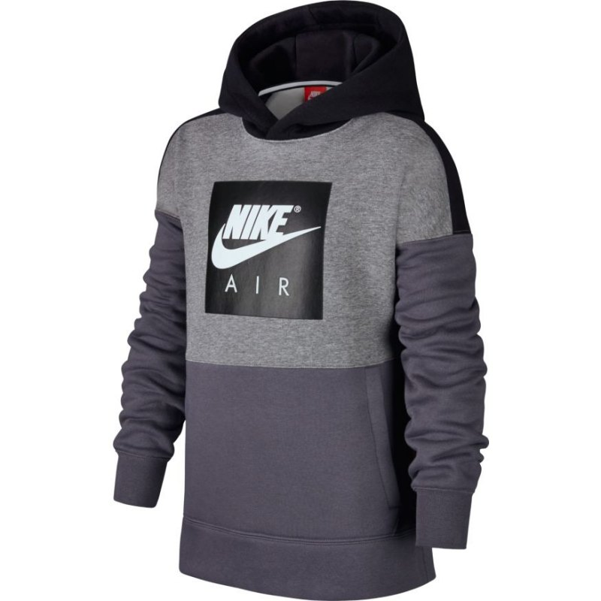 nike air hoody kids grau schwarz f091 freizeitbekleidung pullover pulli sweatshirt. Black Bedroom Furniture Sets. Home Design Ideas