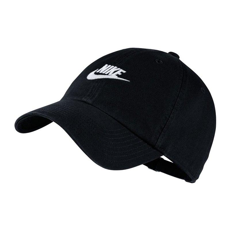 Nike Heritage 86 Washed Cap Kappe Schwarz F010  