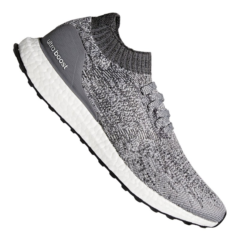 adidas ultra boost uncaged running grau weiss laufen. Black Bedroom Furniture Sets. Home Design Ideas