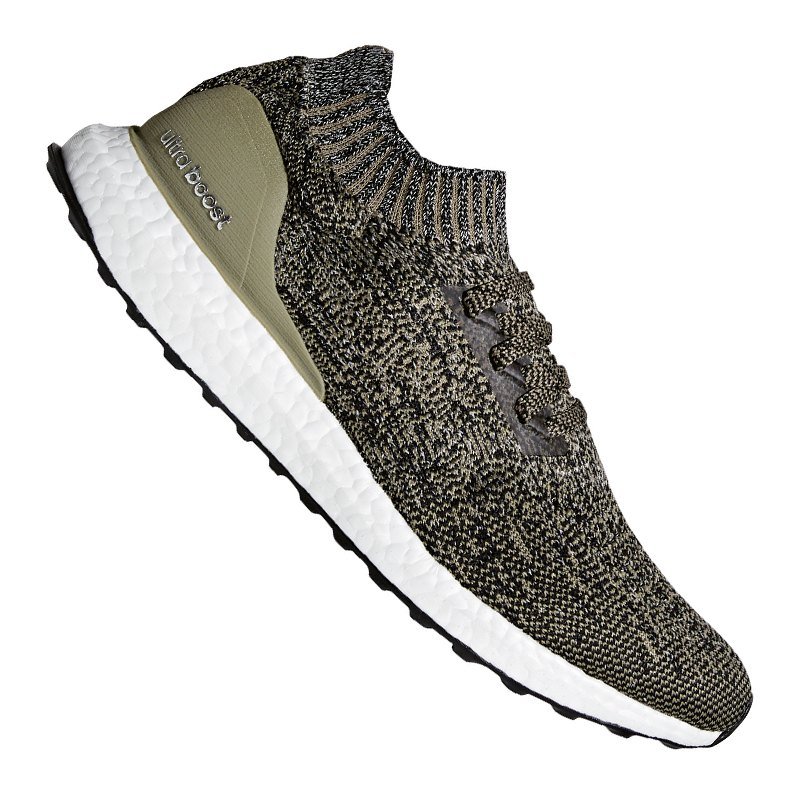 adidas ultra boost uncaged running khaki weiss laufen. Black Bedroom Furniture Sets. Home Design Ideas