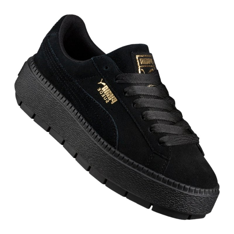 puma platform trace sneaker damen schwarz f01 lifestyle. Black Bedroom Furniture Sets. Home Design Ideas
