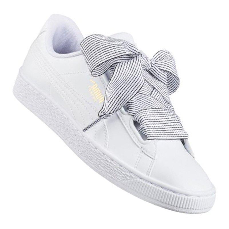 puma basket heart sneaker damen weiss f03 turnschuhe. Black Bedroom Furniture Sets. Home Design Ideas