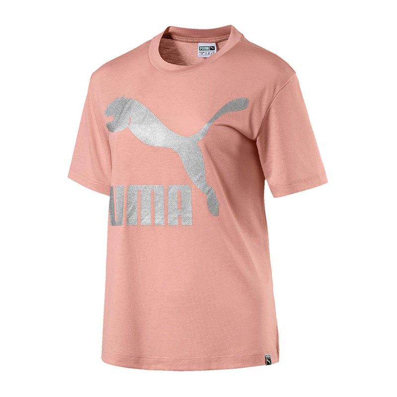 Puma Classics Logo Tee T-Shirt Damen Rosa F31