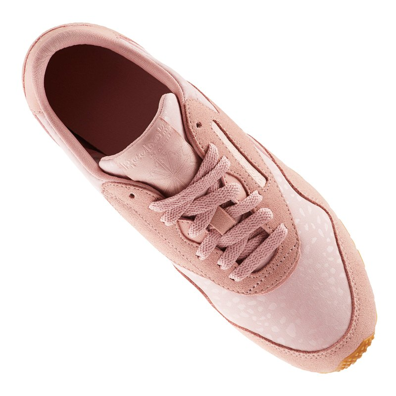 Nylon Text Slim Classic Reebok Sneaker Damen Rosa A45RjL