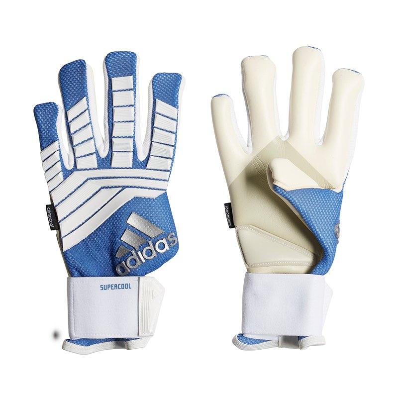 available amazon new high adidas Predator Super Cool TW-Handschuh Weiss Blau