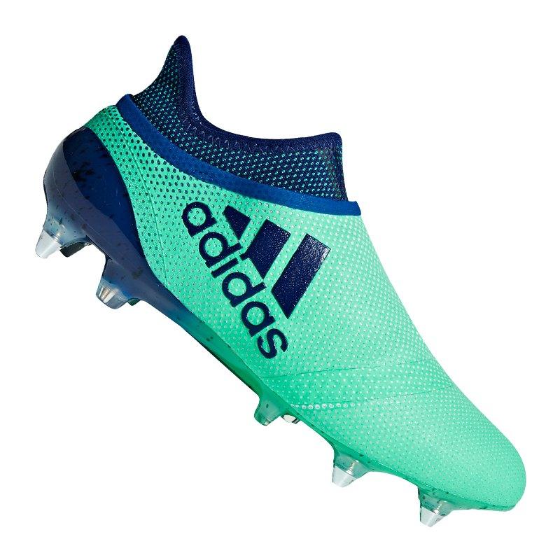 adidas X 17+ Purespeed SG Grün Blau | - gruen