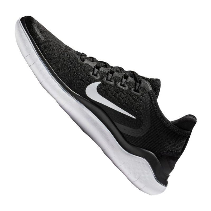 Nike Free RN 2018 Running Damen Schwarz Weiss F001