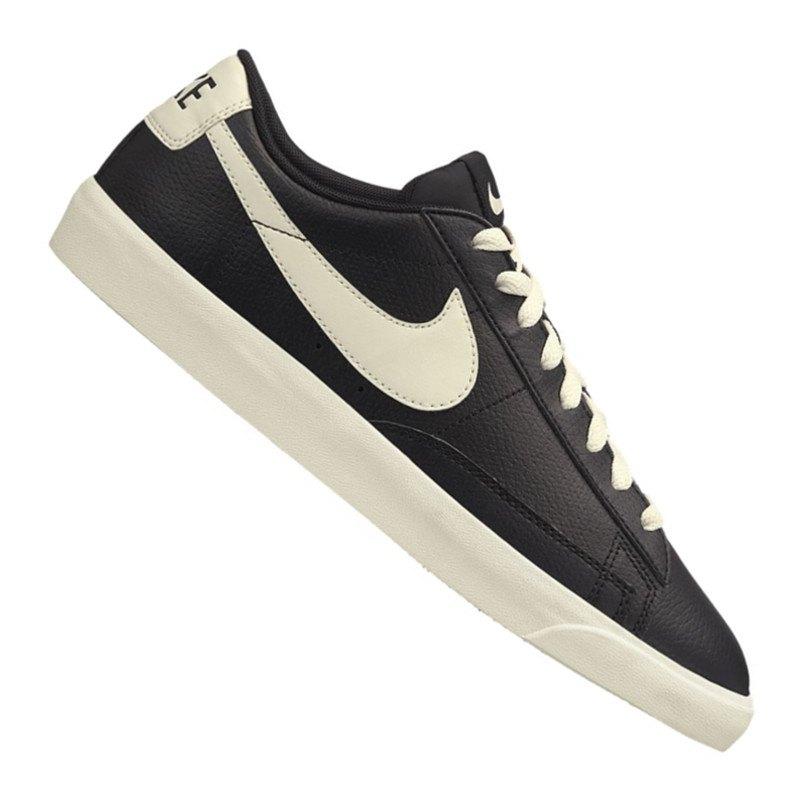 nike blazer low leather sneaker schwarz f001 streetwear. Black Bedroom Furniture Sets. Home Design Ideas