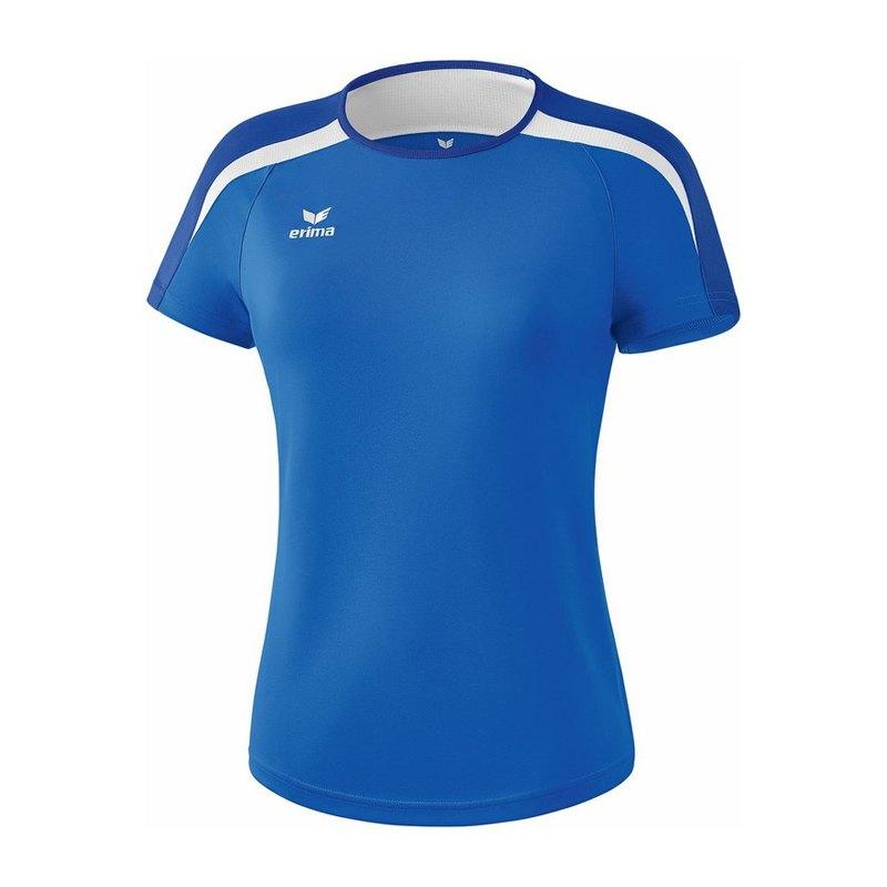 bddd56a972623 Erima Liga 2.0 T-Shirt Damen Blau Weiss | Kurzarm ...