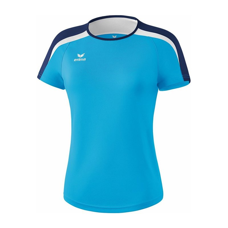 00cabefdacf8a Erima Liga 2.0 T-Shirt Damen Hellblau Blau Weiss | Kurzarm ...