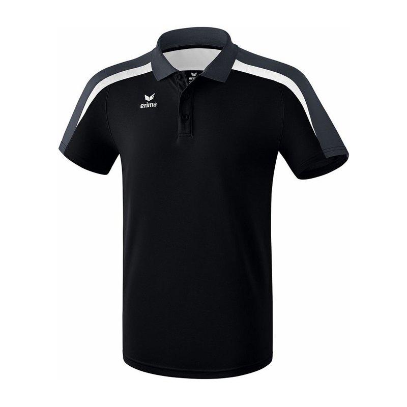 cheap for discount bbf93 7cb6e Erima Liga 2.0 Poloshirt Schwarz Weiss Grau
