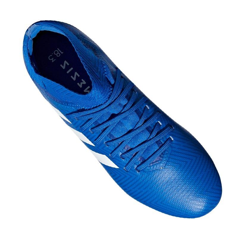 559392fdc adidas NEMEZIZ 18.3 AG J Kids Blau Weiss | Football | Kunstrasen ...