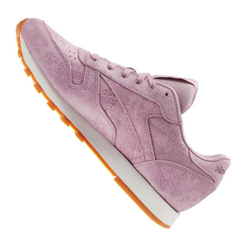 Sneaker Lila Damen Schuhe lifestyle Leather Classic Reebok 8IqE11