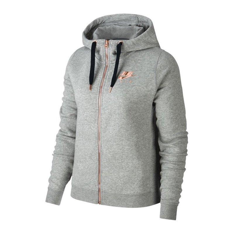 Nike Air Rally Kapuzenjacke Jacket Damen Grau F063 | Freizeitoutfit ...