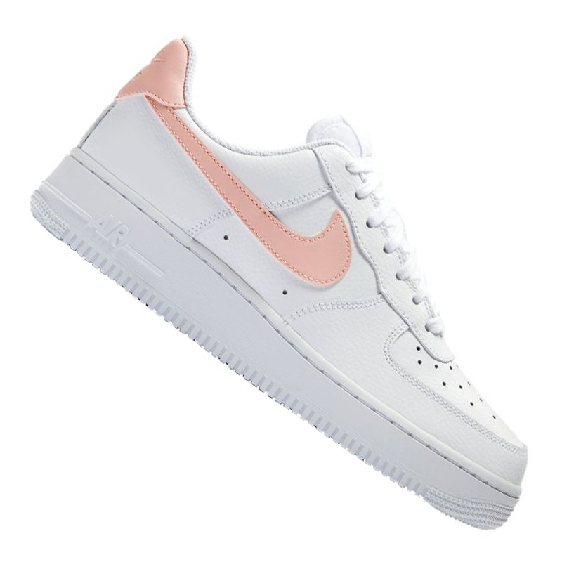 nike air force 1 39 07 sneaker damen weiss rosa f102 weiss. Black Bedroom Furniture Sets. Home Design Ideas