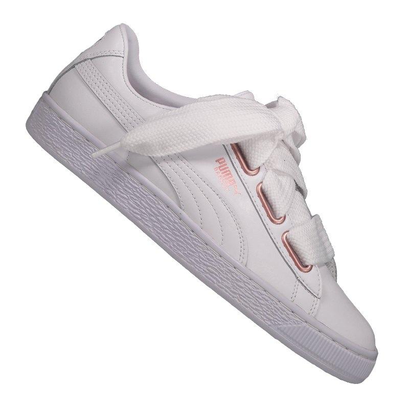 Puma Basket Heart Leather Sneaker Damen Weiss F01