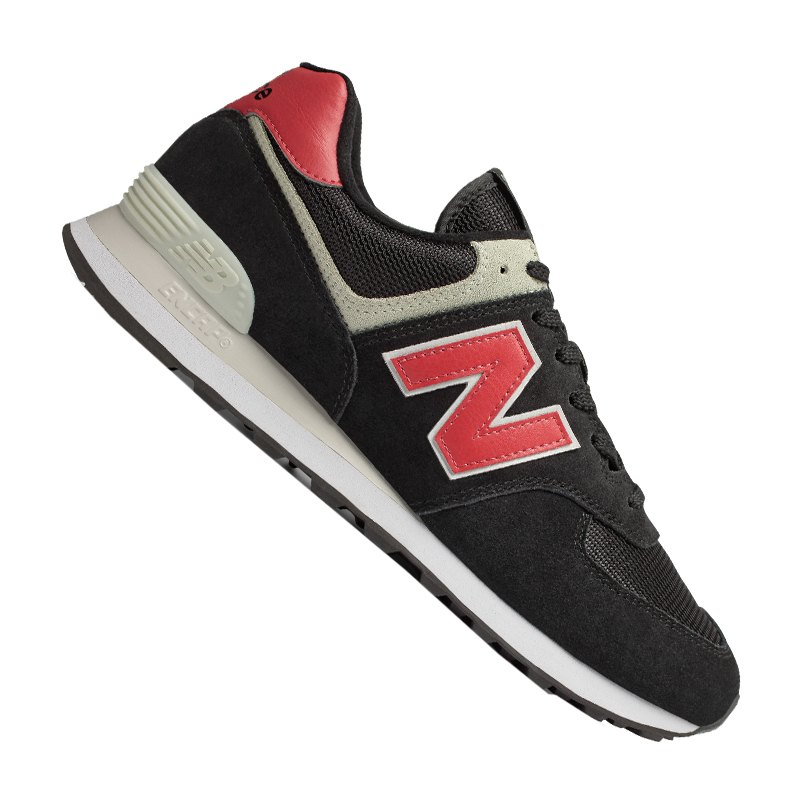 New Balance ML574 Sneaker Schwarz Rot F8