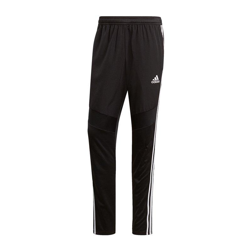 adidas Tiro 19 Warm Pant Hose lang Schwarz Weiss - schwarz