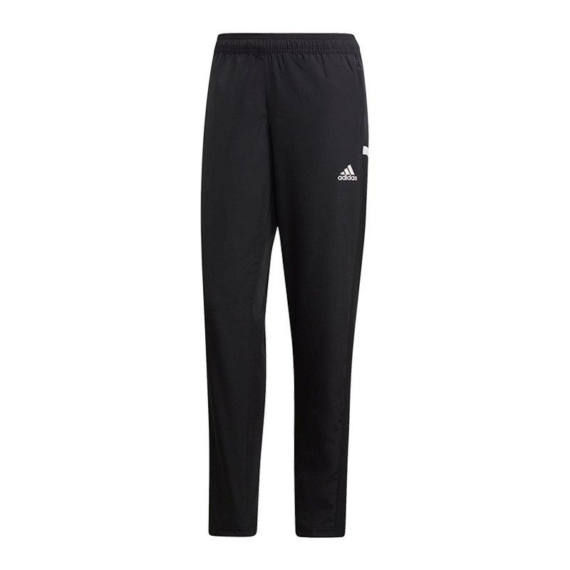 1f6d763b0d adidas Team 19 Woven Pant Damen Schwarz Weiss |Sportkleidung ...