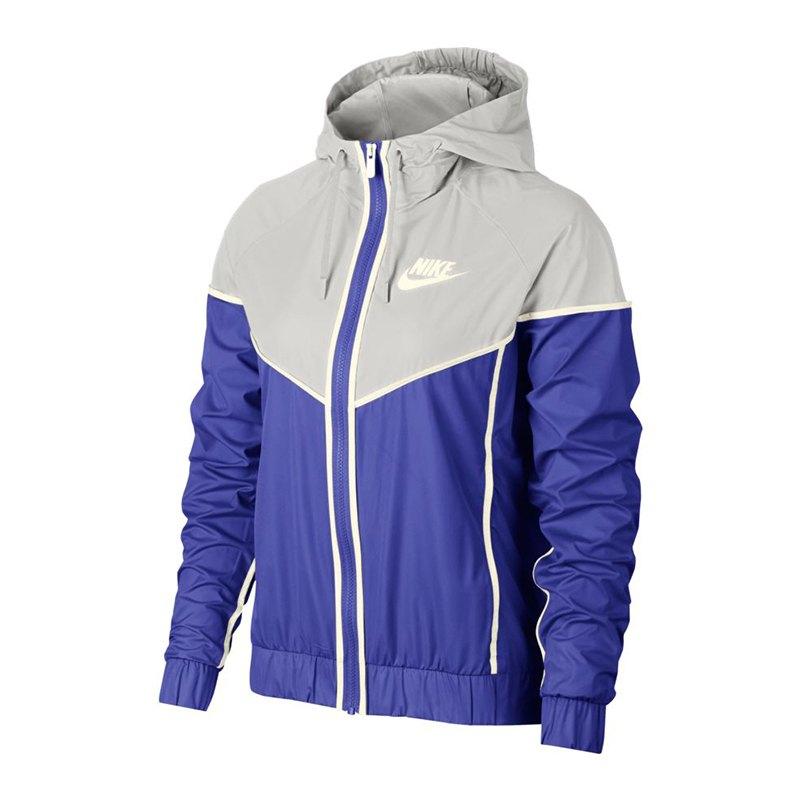 new product 7a497 69f9d Nike Windrunner Jacket Jacke Damen Blau Grau F518