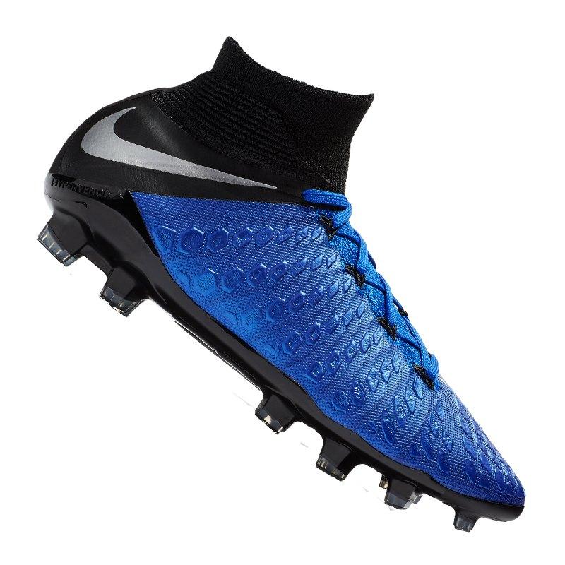 Nike Jr Hypervenom Phantom III Elite DF FG Kids - blau