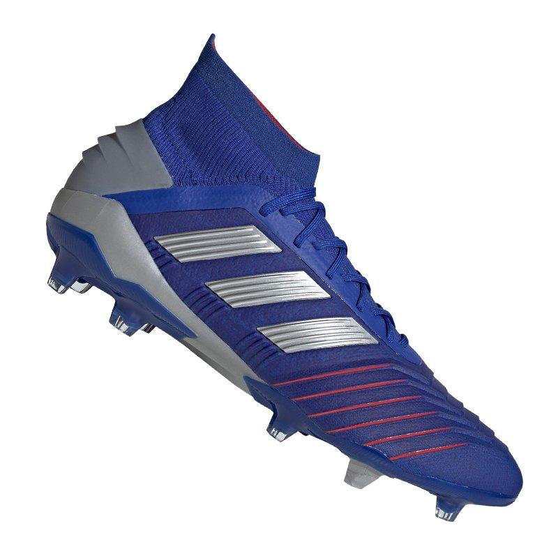 adidas Predator 19.1 FG Blau Silber - blau