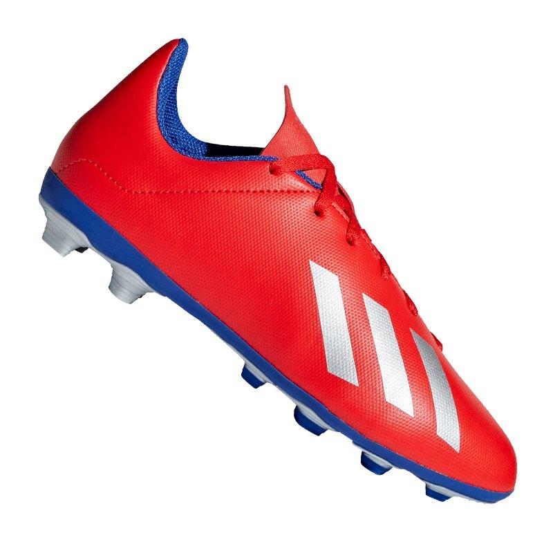 adidas X 18.4 FxG J Kids Rot Blau
