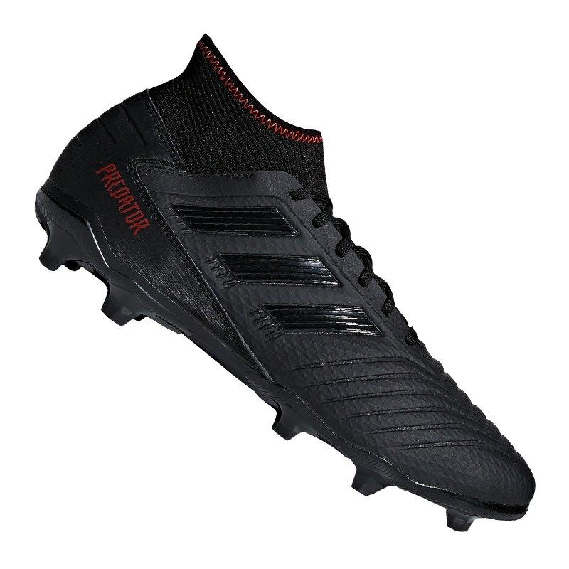 adidas Predator 19.3 FG Schwarz - schwarz