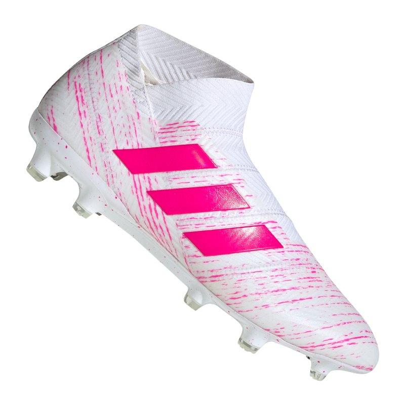 adidas NEMEZIZ 18+ FG Weiss Pink - weiss